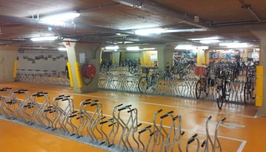 Gratis en bewaakte fietsenstallingen